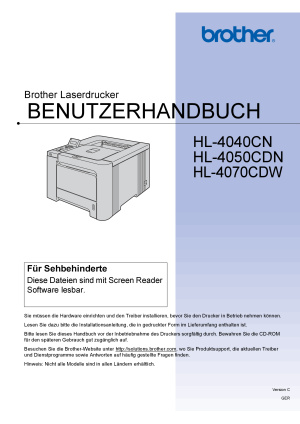 bedienungsanleitung brother hl 4040cn printer. Black Bedroom Furniture Sets. Home Design Ideas