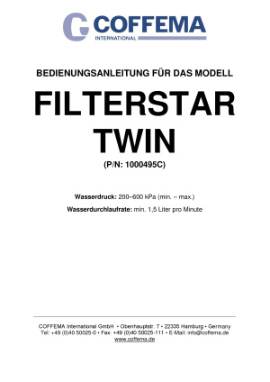 Coffema Filterstar Twin