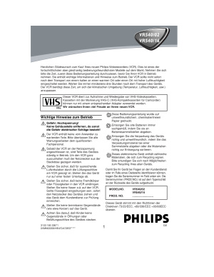 Philips VR 540 02