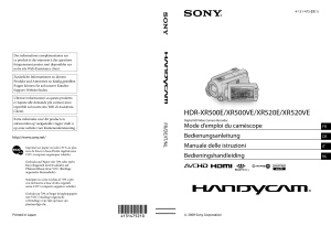 Sony HDR XR500E